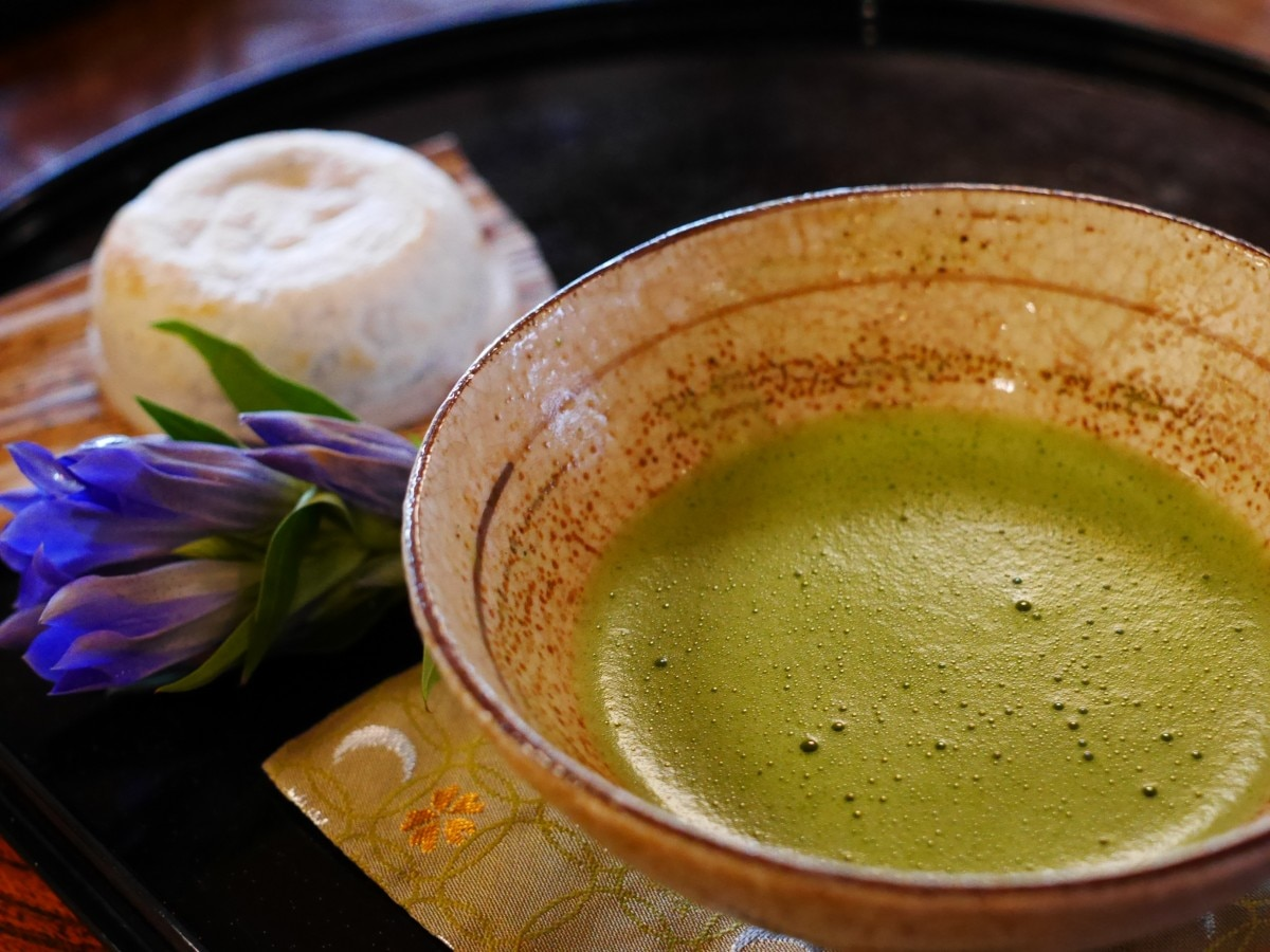 Matcha powder drink
